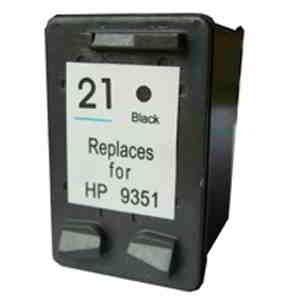 Cartucho de tinta compatible con las Impresoras HP Deskjet 3910  3930 3940 HP PSC 1410  2360. Equivalente al cartucho HP 21