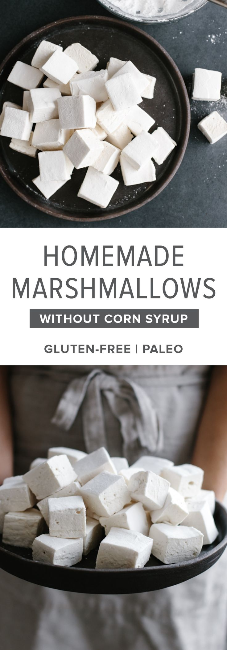 Healthy, paleo-friendly homemade marshmallows use honey or maple syrup instead of corn syrup and high-quality gelatin.