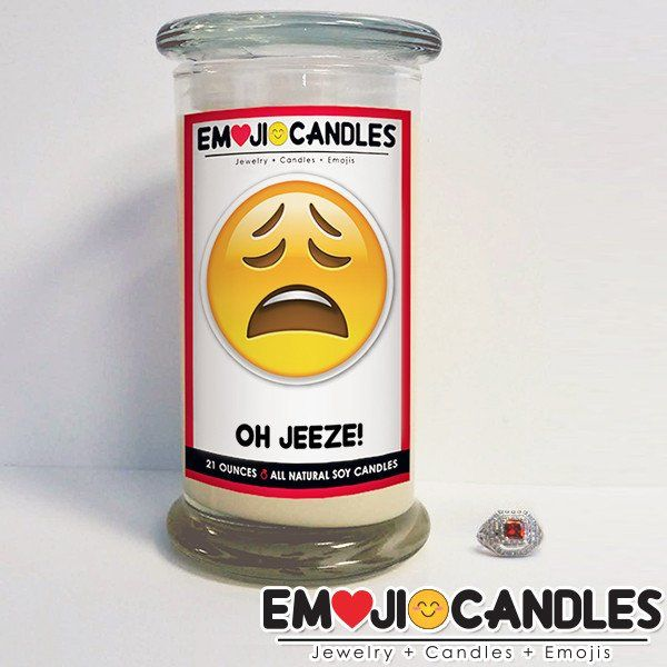 Oh Jeeze! - Emoji Candles. Add a little fun & personal touch to your gift.. with an Emoji Candle! Yes, the Emojis everyone loves now has a candle that will make everyone smile!
