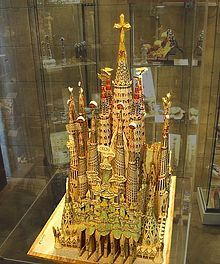 Model of Sagrada Familia by Antonio Gaudi. Started in the 1880's. Still not completed. But oh so fabulous