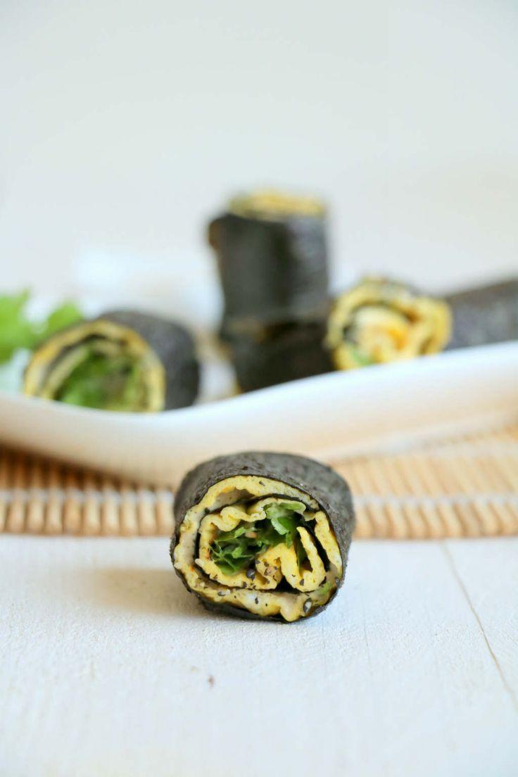 omelet sushi wraps