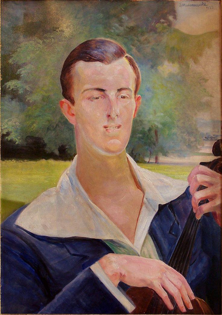 Jacek Malczewski - Portrait of a man with cello