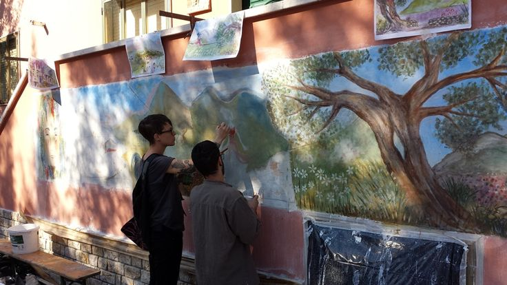 """Cologna Paese come """"opera d'arte all'aperto"""".Tornano gli affreschi di Vico Calabrò"""