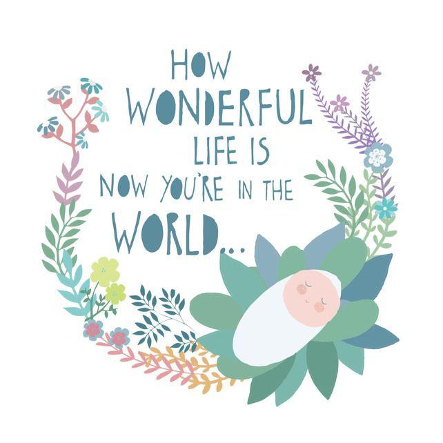 'Wonderful Life' Square Card £2.50