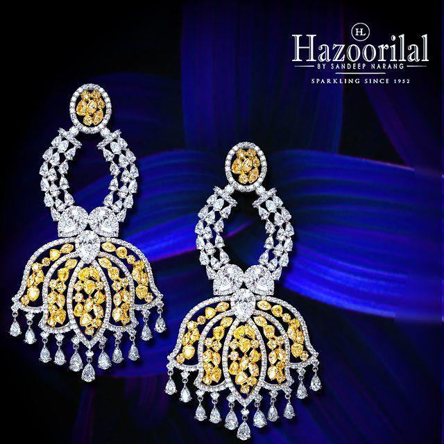 #FloralFantasy . Earrings made to ooze....charm. #Hazoorilal #HazoorilalJewellersGK #HazoorilalBySandeepNarang
