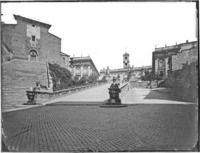 Roma - Piazza del Campidoglio, cordonata Cronologia del fototipo sec. XIX seconda metà