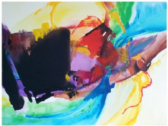 Lifeㅡacrylic.  Life is clothes with various color-like a joy,greenness, sadness....