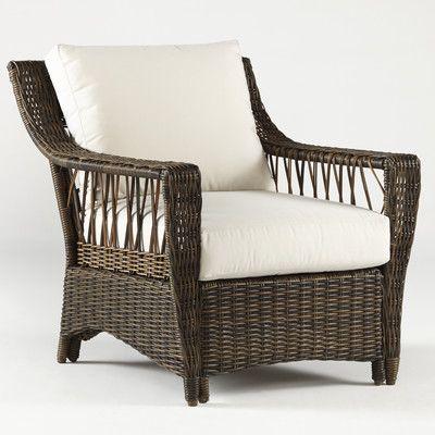 South Sea Rattan Saint John Deep Seating Chair with Cushion & Reviews | Wayfair