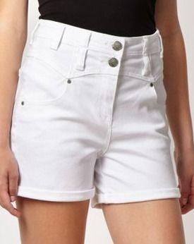 White high waisted shorts, Debenhams