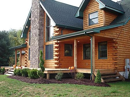 Log Cabin Landscape For Randy Pinterest