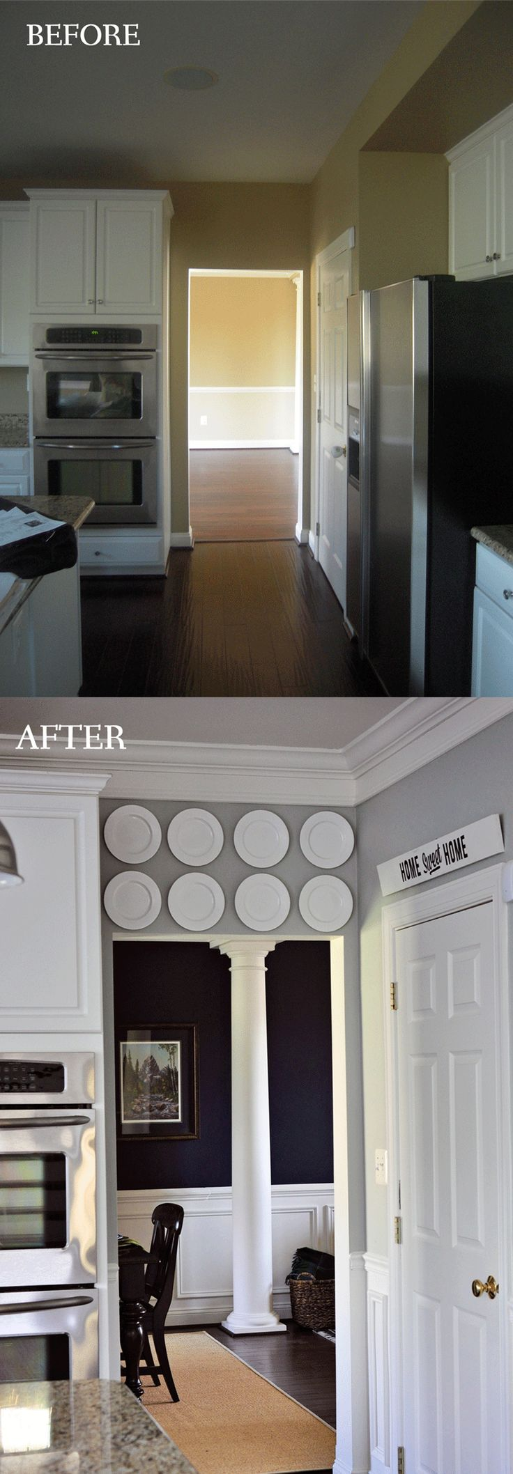 Molding amp trim find baseboard and crown molding designs online - Crown Molding Makes Such A Difference And This Woman Did Everything Herself After Teaching