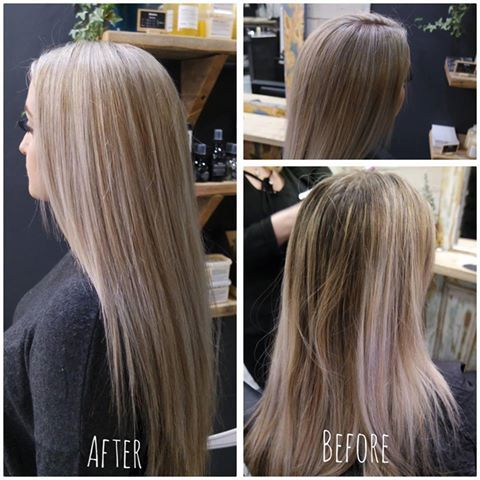 The result of a 5* service at Samuel David with Senior Stylist Mell. Gorgeous blonde highlights for Melanie! 😍✂ #davines #goodsalonguide #colour