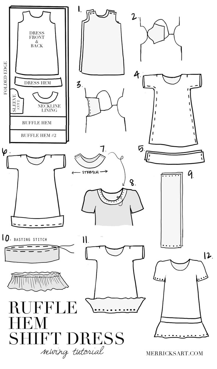 Merrick's Art // Style + Sewing for the Everyday Girl: DIY FRIDAY: RUFFLE HEM SHIFT DRESS (MATERNITY or NON MATERNITY)