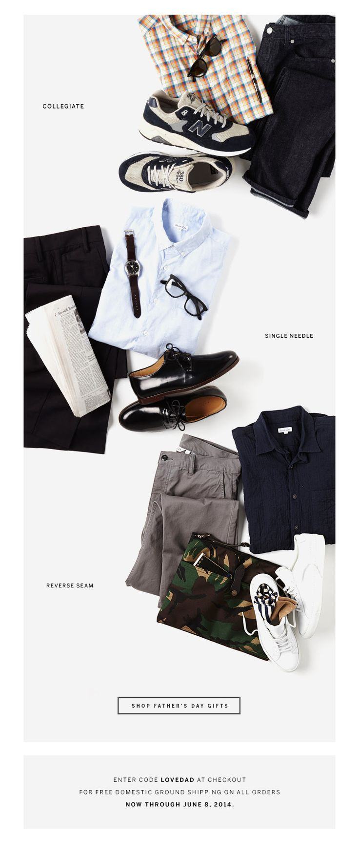 Steven Alan Email Design / photo styling