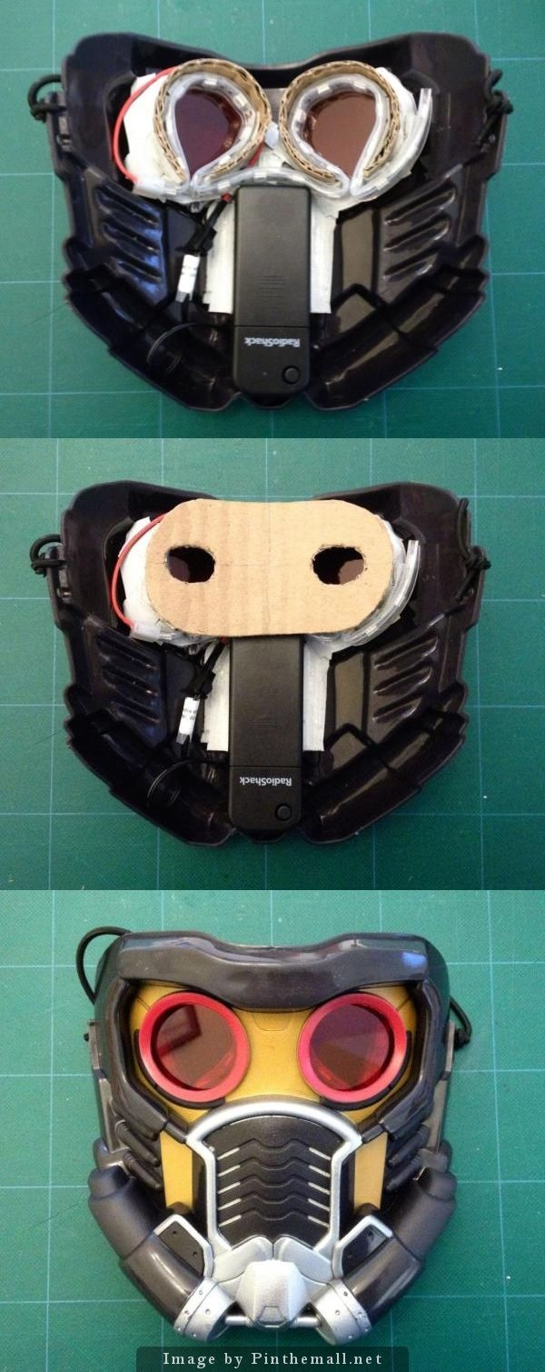 Star-Lord Mask retrofit for LED lights and red lenses. DIY by Markitekt