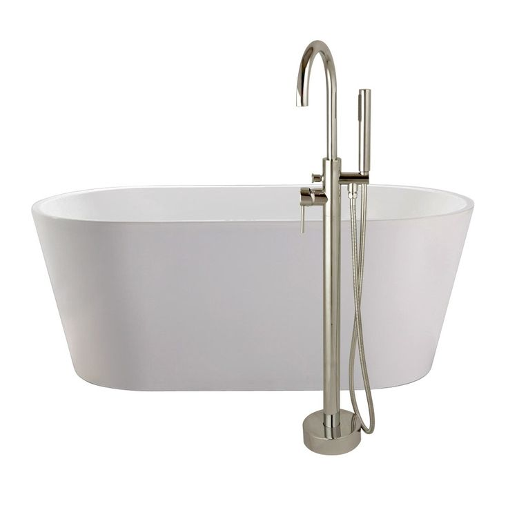 Randolph Morris 59 Inch Acrylic Double Ended Freestanding Tub Package