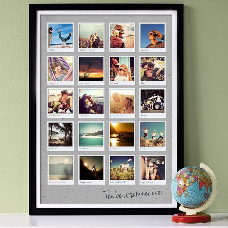 Wondering whether I could DIY this frame myself...photoshop some photos and buy a cheap frame....