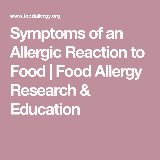Symptoms of an Allergic Reaction to Food | Food Allergy Research & EducationDanielle Duncan