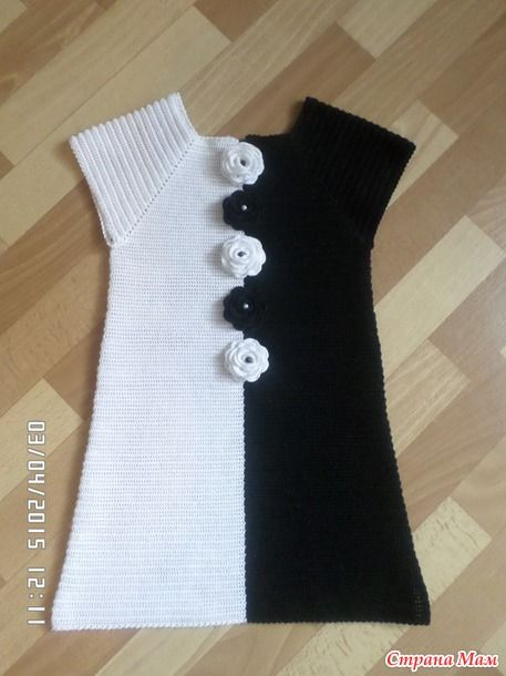 Little girls dress, no pattern but I love the B&W color blocking inspiration.
