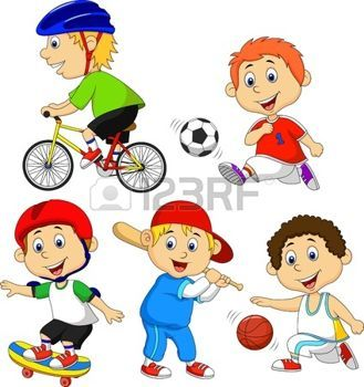 haciendo deporte: Historieta divertida niño haciendo deporte