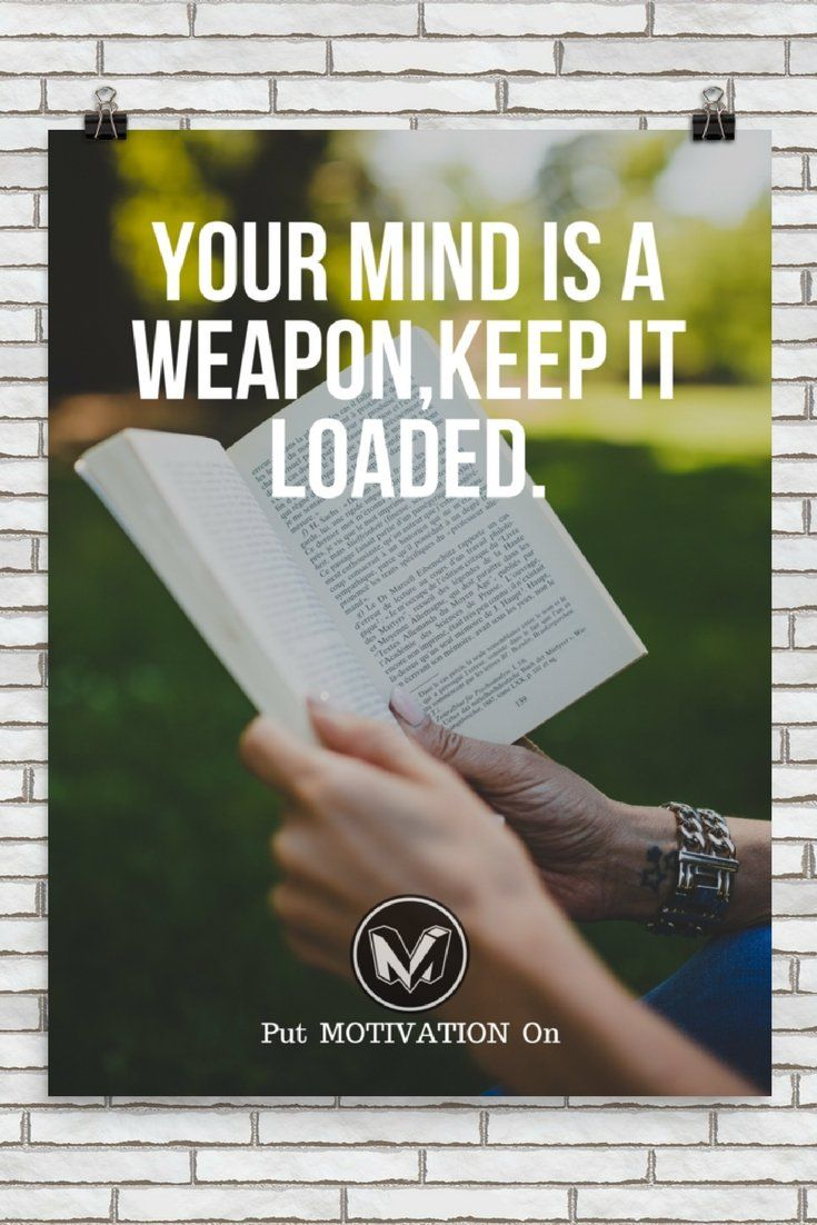 YOUR MIND IS A WEAPON,KEEP IT LOADED | Poster – PutMotivationOn Follow all our motivational and inspirational quotes. Follow the link to Get our Motivational and Inspirational Apparel and Home Décor. #quote #quotes #qotd #quoteoftheday #motivation #inspiredaily #inspiration #entrepreneurship #goals #dreams #hustle #grind #successquotes #businessquotes #lifestyle #success #fitness #businessman #businessWoman #Inspirational
