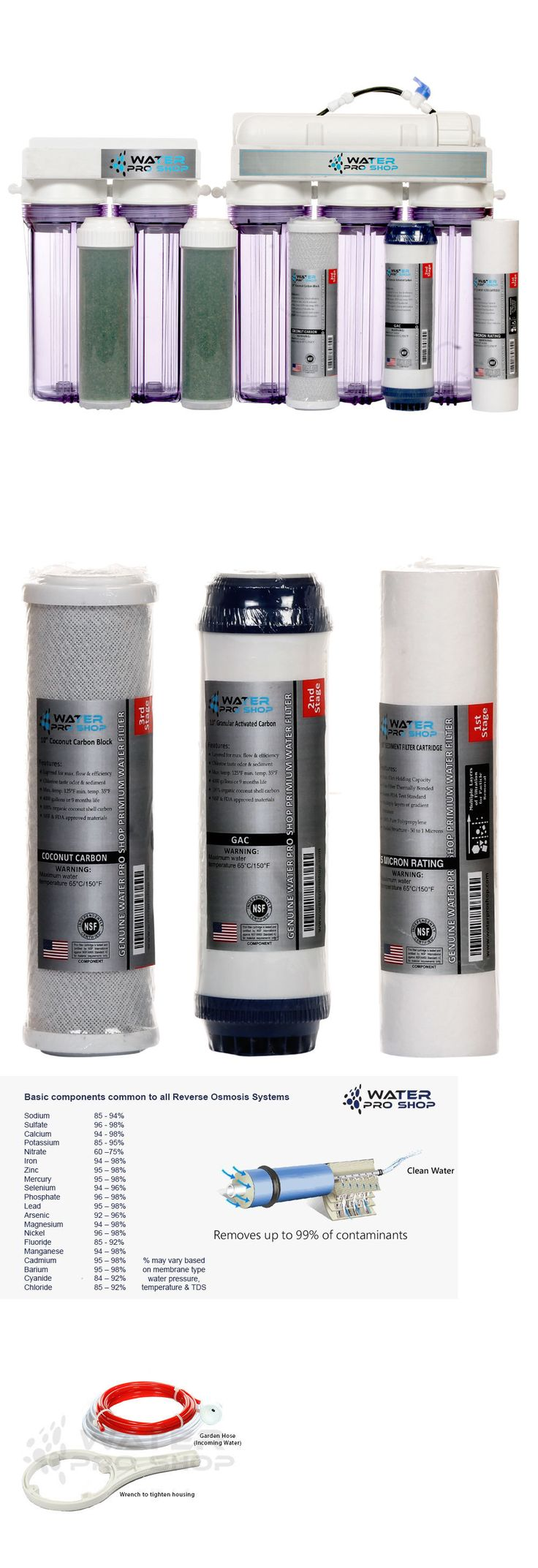 Reverse Osmosis and Deionization 77658: 6 Stage Aquarium Reef (Ro/Di) Water System-100 Gpd + Manual Flush Valve - Usa BUY IT NOW ONLY: $169.99