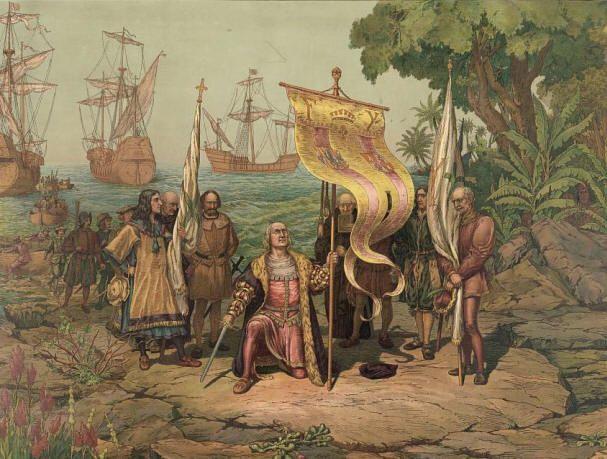1492--Columbus Landing in the New World