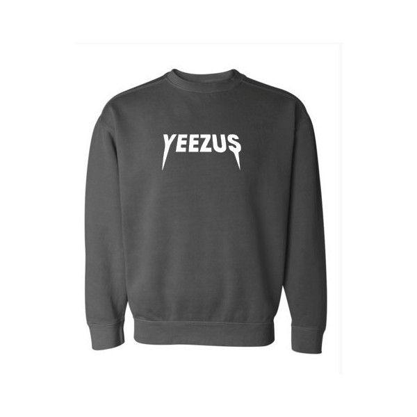 Kanye West Yeezus Supersoft Crewneck Sweatshirt Many Colors Kourtney... ($35) ❤ liked on Polyvore featuring tops, hoodies, sweatshirts, oversized tops, blue crew neck sweatshirt, slouchy sweatshirt, blue top and oversized crew neck sweatshirt