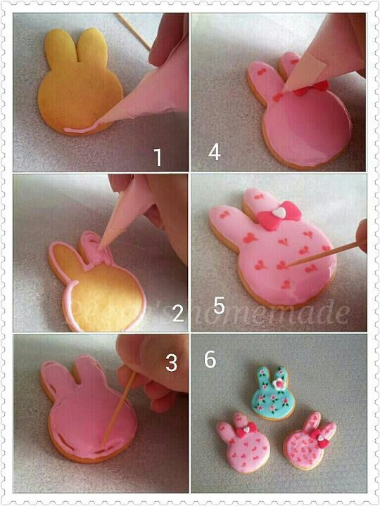 Simple icing cookies tutorial- Pictures only