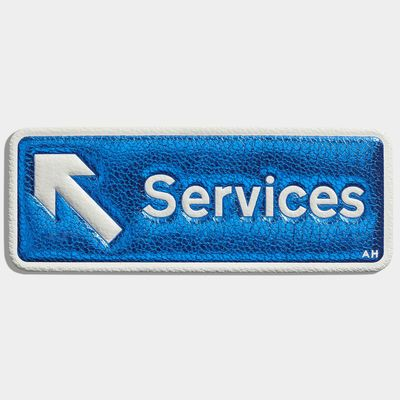Services Sticker, created in collaboration with CHAOS Fashion