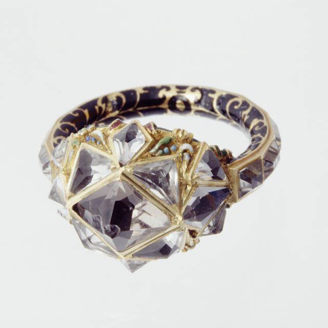 16th-century diamond and enamel ring, now at Ranger's House, London (© with kind permission of The Wernher Foundation)