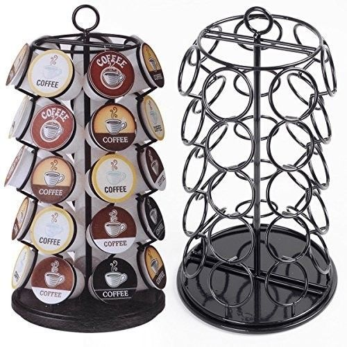 Coffee-Pod-Rack-Capsule-Holder-Stand-Revolving-Carousel-Nespresso-Dolce-Gusto