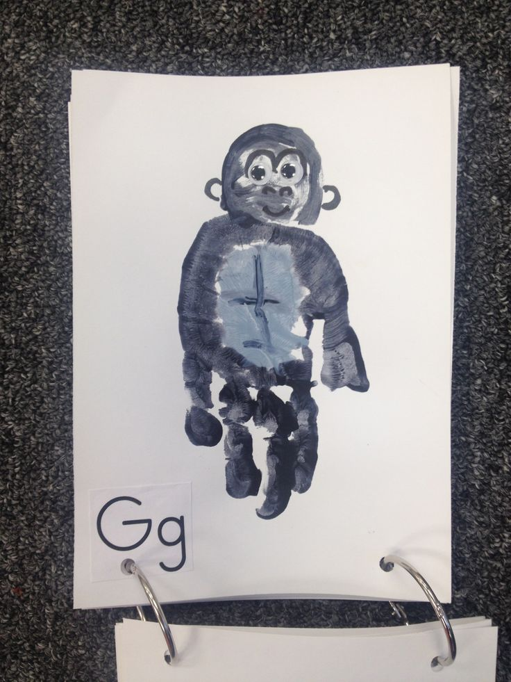 G - Gorilla. Handprint craft
