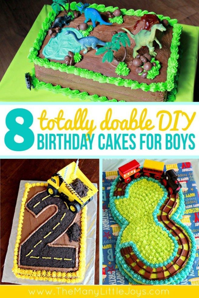 8 Fantastic Diy Birthday Cakes For Boys With Images Diy