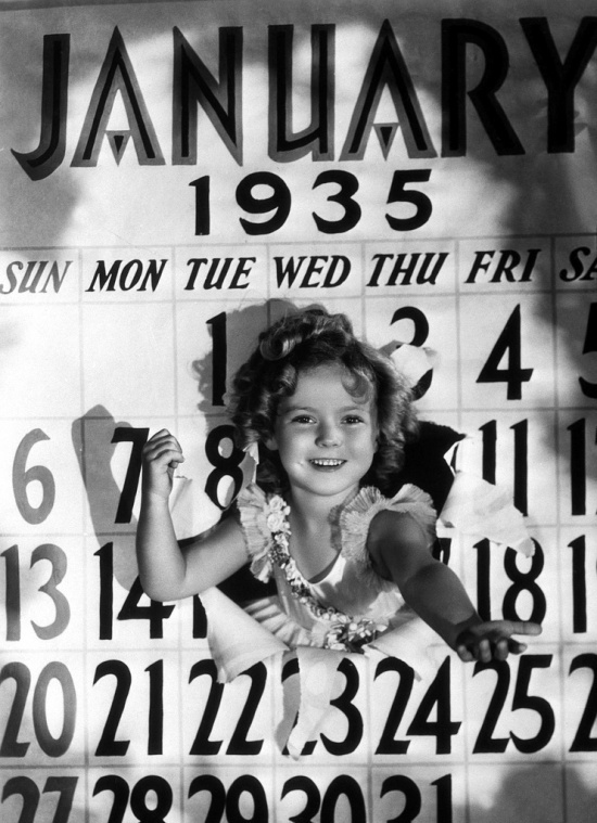 The gorgeous Shirley Temple from a new year photo from 1935.: