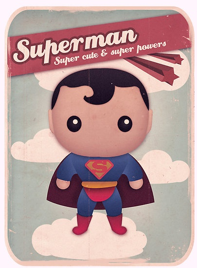 #cute #superman #vintage #poster $3