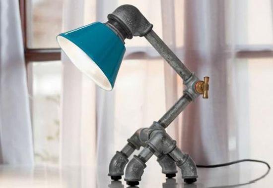 Desain lampu duduk dari pipa besi bekas part 1 ~ Teknologi Konstruksi Arsitektur