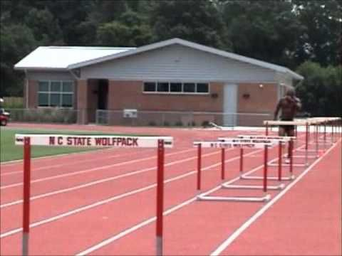 Hurdle Training - Technique, Reaction, Endurance work - 10 over 10 hurdles - YouTube