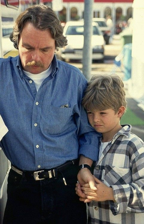 Keke Rosberg together with his son, Nico, date unknown