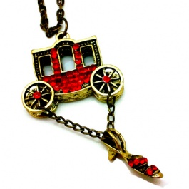 Angela Horse Cart and Shoe Necklace