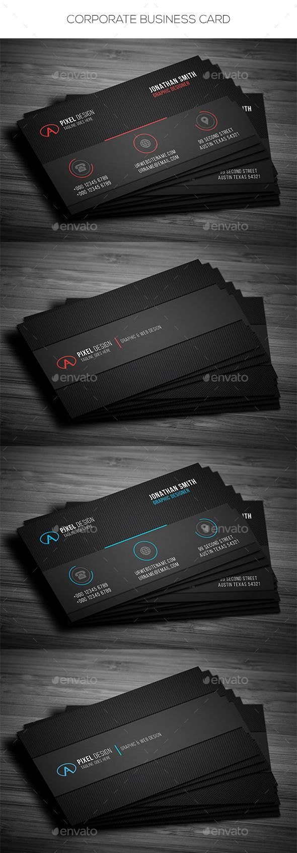 26 best cartes de visita images on pinterest business card design corporate business card template psd reheart Images