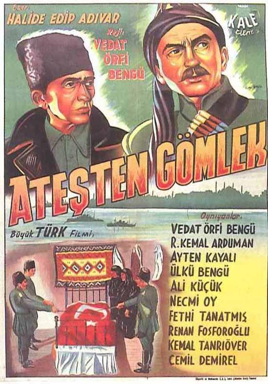 Türk Nostalji - Fotogaleri - Ateşten Gömlek (1950) filminin afişi