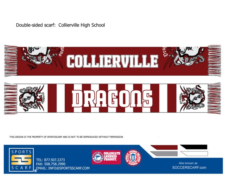 Collierville High School Dragons High Definition Knit