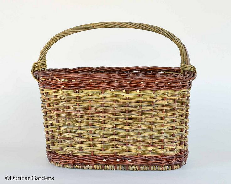 willow magazine basket by Katherine Lewis at dunbargardens.com