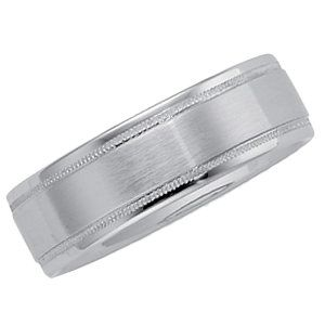 14kt White 6.25mm Milgrain Comfort Fit Band Size 11...(ST50528:296060:P).! Price: $399.99