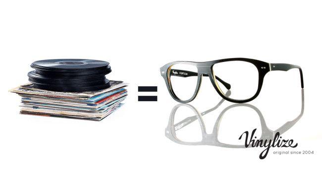 Vinyl records turn into eyeglasses and shades at Lost at E Minor