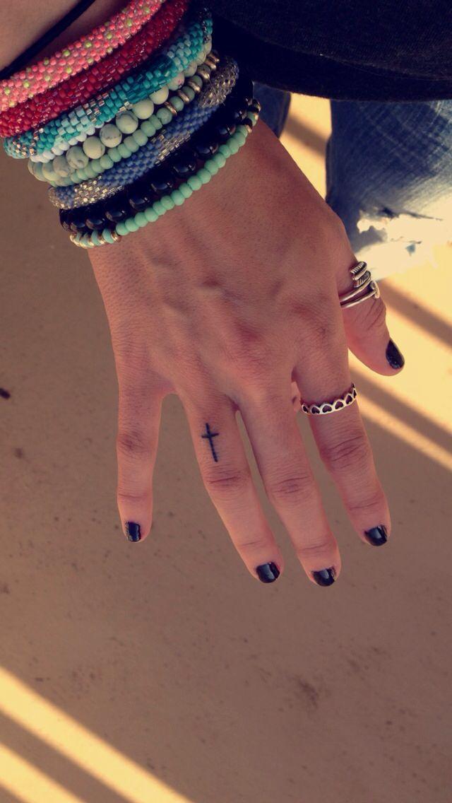 Finger cross tattoo - artistic temptations in Stillwater, ok