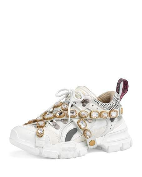 332cba27942 Gucci Flashtrek Tonal Hiker Sneaker With Chain Strap in 2019 ...