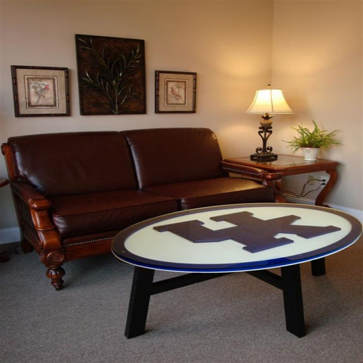 Fan creations university of kentucky coffee table c0518 for Football coffee table