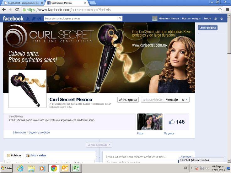 Encontramos una fanpage en Facebook y una página web http://www.curlsecret.com.mx  promocionando el Curl Secret, que no son de @Conair México. No se dejen sorprender.